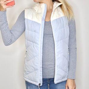 The North Face Gray & Cream Goose Down Vest